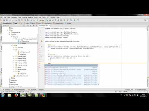 Develop simple Dice Widget in Android Studio