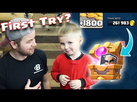 MY SON Opens the MAGIC ARCHER CHEST! What was he thinking? Clash Royale
