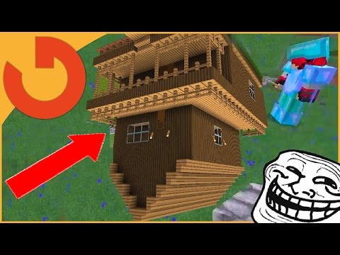 FLIPPING HOUSE UPSIDE DOWN AND SIDEWAYS! - Minecraft Trolling (Ep 163)