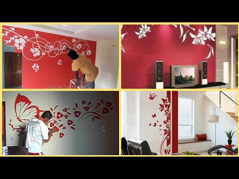 wall art mural painting ideas for valentine's Day home decoration 2021