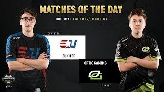 eUnited vs Optic Gaming | CWL Pro League 2019 | Cross-Division | Week 12 | Day 4