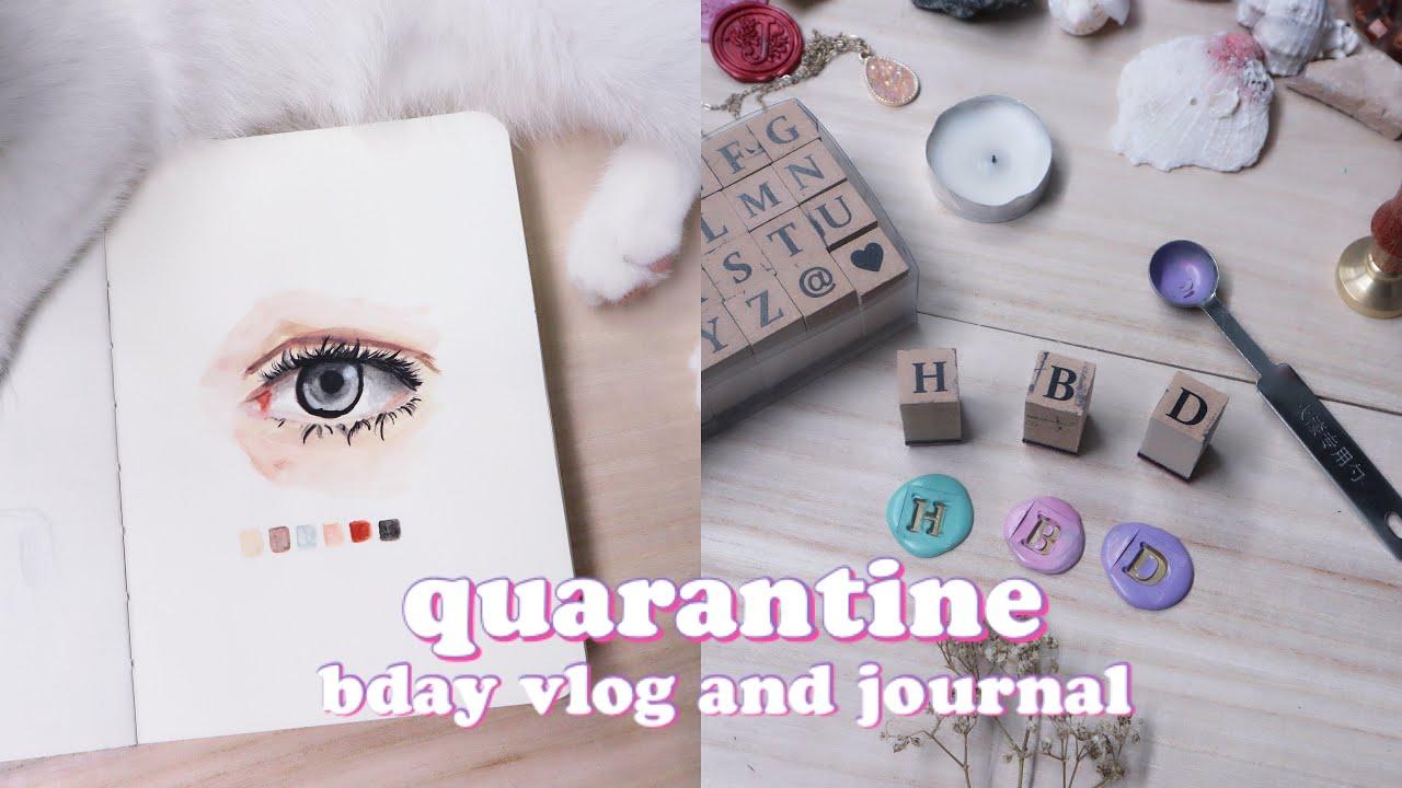 bday on quarantine + random journal and vlog | joy marino