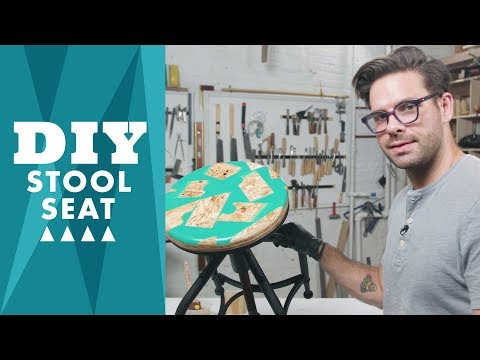 How to Make a Custom Wood and Resin Stool Seat - HGTV Handmade