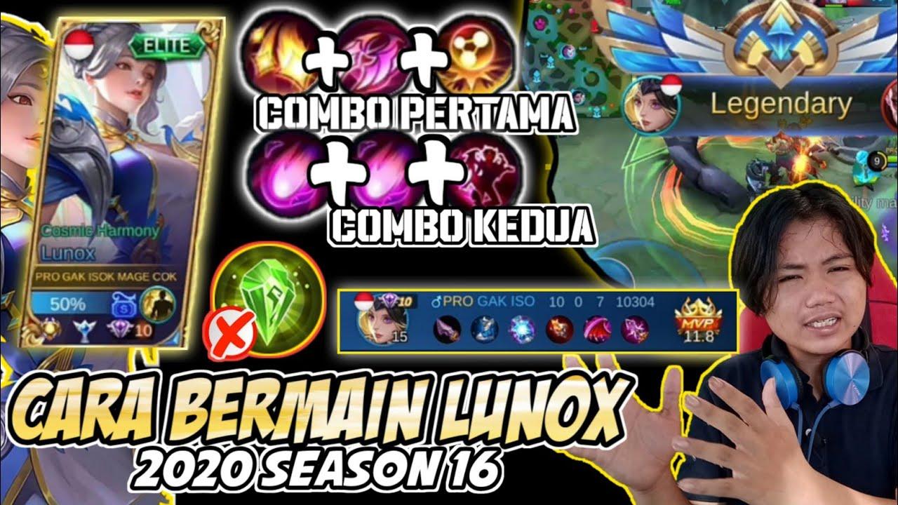 TUTORIAL LUNOX!!! Cara Bermain Lunox Dan Build tersakit 2020 | Season 16