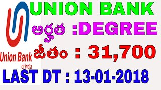 UNION BANK SPECIALIST OFFICERS RECRUITMENT notification   FOREX &TREASURY  degree bank jobs