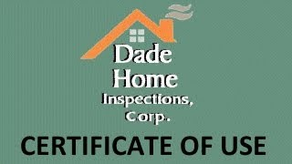 Miami-Dade County Certificate of Use for Foreclosed Properties Inspection