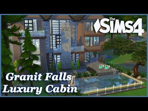 The Sims - Granite Falls Luxury Lodge (House Build)