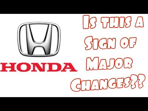 There might be a BIG change for Honda owners...