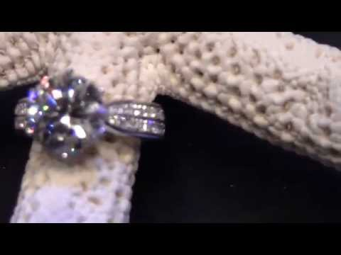 NSCD 3 CT Carat Simulated Diamond Wedding Bridal Ring with Pave Set Stone Sides!!!!