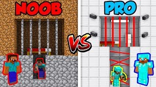 Minecraft NOOB vs. PRO: PRISON BREAK in Minecraft!