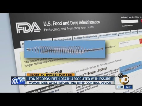 FDA records: Fifth death associated with Essure