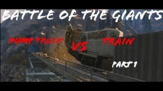 GTA V - Gameplay: Huge Dump Truck VS Train