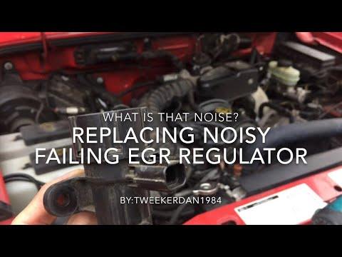 How to replace EGR regulator on Ford Ranger