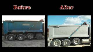 Blast It Clean - Cleaning Paint and Rust off Dump Truck Bed