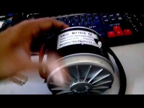 Received 24 Volt DC motor for Electric Vehicle Project