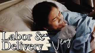 LABOR AND DELIVERY VLOG 2020 | She's Here!!! Birth Vlog First Baby + Name Reveal