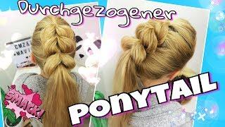 durchgezogener Zopf als Ponytail / Pferdeschwanz Version | Mavie Noelle