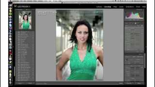 Lightroom graduated filter tool for glamour photos