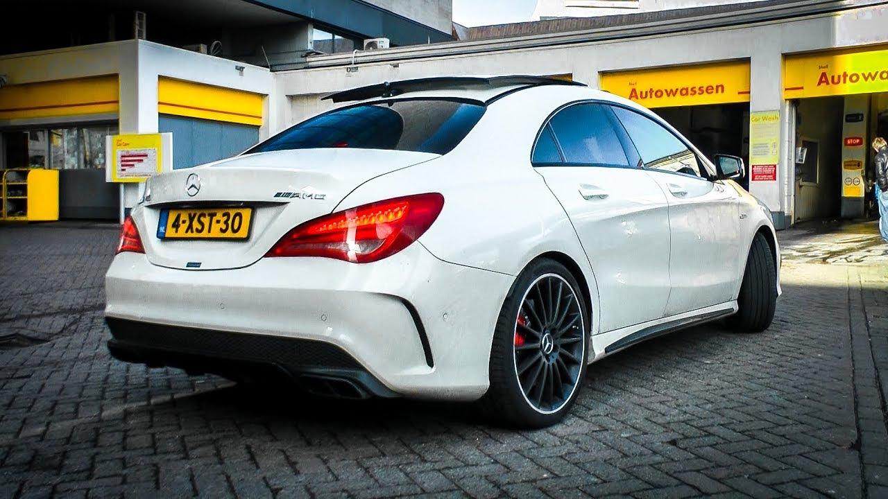 mercedes benz cla 45 amg revs accelerations sounds. Black Bedroom Furniture Sets. Home Design Ideas