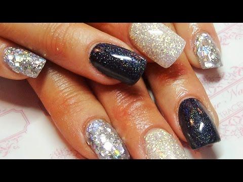 Glitz & glammer acrylic nails