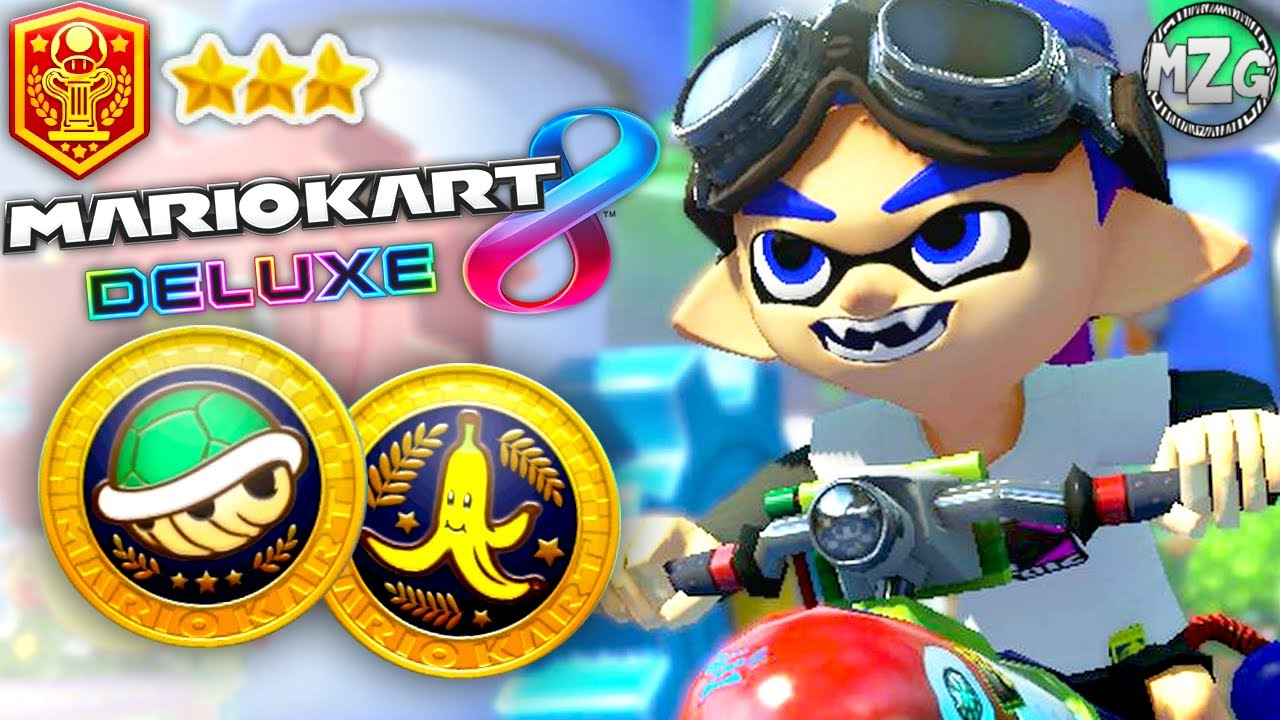 shell cup banana cup inkling boy mario kart  deluxe