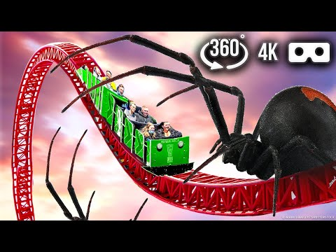 Scary 360 VR ROLLER COASTER Video   Zombie City   4K Virtual Reality