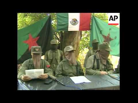 MEXICO: MYSTERY GUERRILLA GROUP HOLD SECRET PRESS CONFERENCE