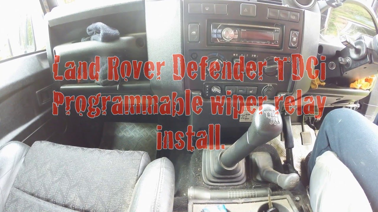 small resolution of defender programmable wiper relay install