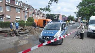 [Durch die Baustelle] FuStW Polizei Henstedt-Ulzburg durch Vollsperrung