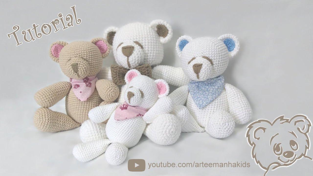 Ursinho Amigurumi - Receita | Ursos de pelúcia de crochê ... | 720x1280