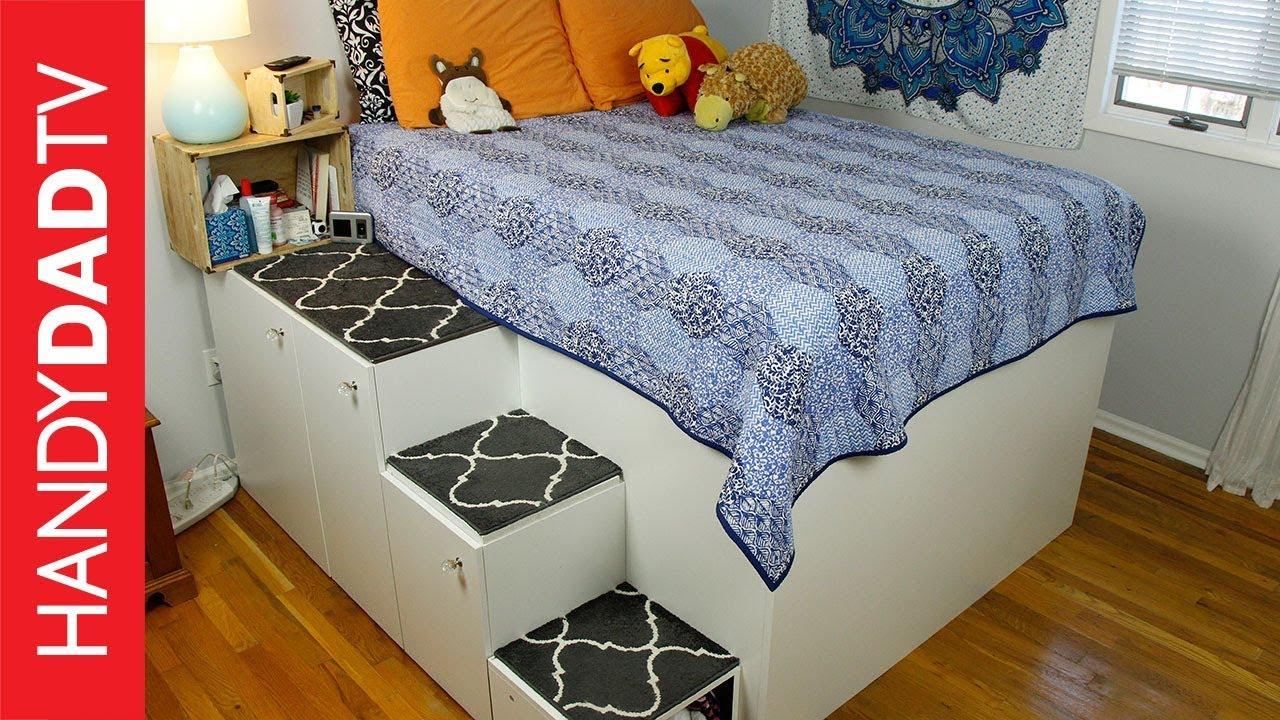 Ikea Hack Platform Bed Freestanding Version Youtube