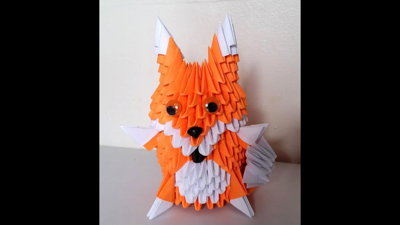 how to make 3d origami fox youtube