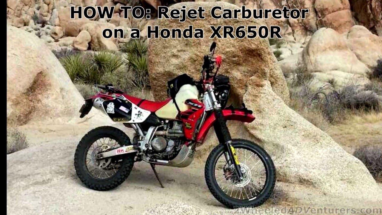 HOW TO: Rejet a dirtbike carb KEIHIN XR650R