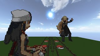 【Minecraft】音ブロックでシロナ戦BGM【ポケモン】