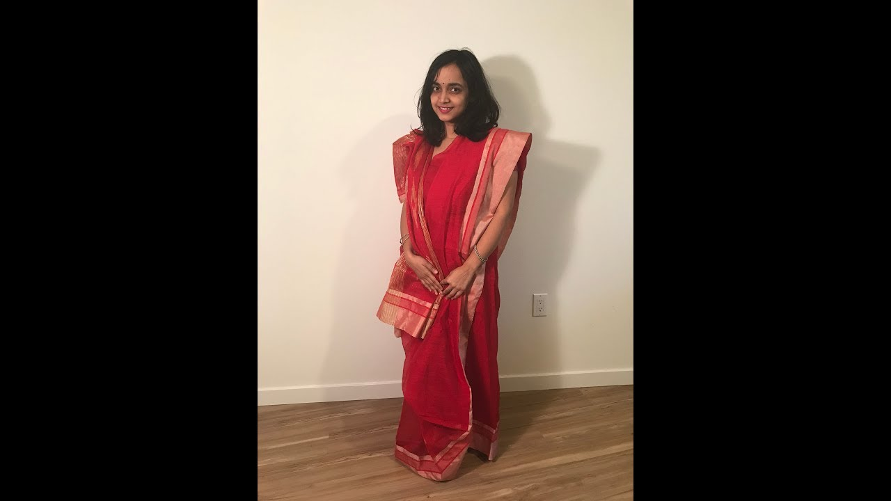 a27bbd14d6bed8 Wearing Atpoure Sari   Not like a pro   Traditional Bengali Style dress    First try