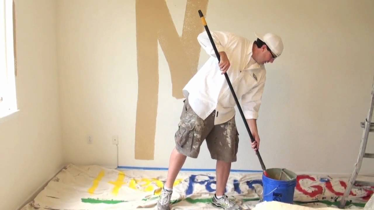 How to paint a room interior house painting using a for Painting inside a house