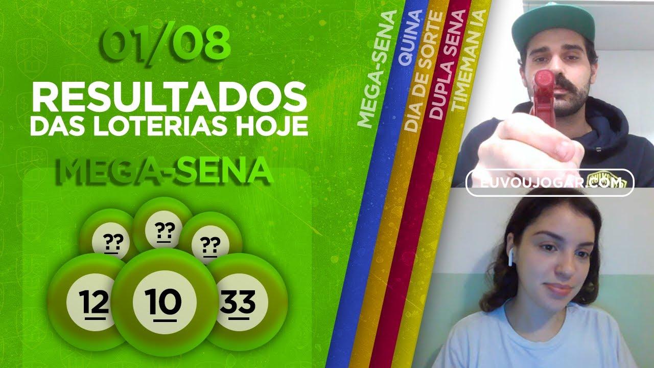 🔴 LIVE: RESULTADO DA MEGA-SENA 2285 | TIMEMANIA 1518 | DUPLA SENA 2112 e mais - 01/08