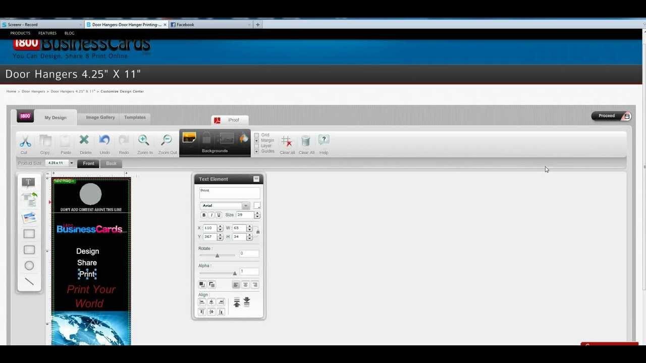 How To Create a Door Hanger - YouTube