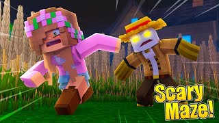 ESCAPING THE SCARY MAZE | Minecraft Little Kelly