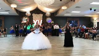 Alyssa's Quinceñera Surprise dance with mom (also with her sibling) thumbnail