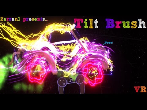 Quick-draw TILT BRUSH Test! Oculus Rift VR w/ Touch - DaVinci would love dis! 🎨