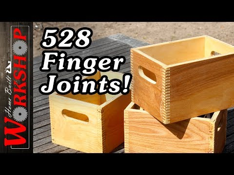 Finger Joint Boxes (how to make a finger joint jig)