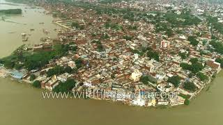 Kanpur gets flooded in monsoon 2018: aerial view of outlying regions along Ganga thumbnail