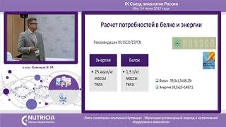 Специализированное питание в лечении и реабилитации онкологических пациентов. Хомяков В.М.