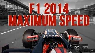 F1 2014 Gameplay - ALL CARS MAXIMUM SPEED COMPARISON