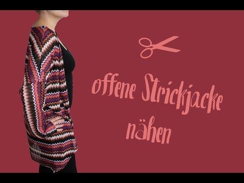 offene Strickjacke | Cardigan nähen – DIY Tutorial | Nähanleitung + Schnittmuster