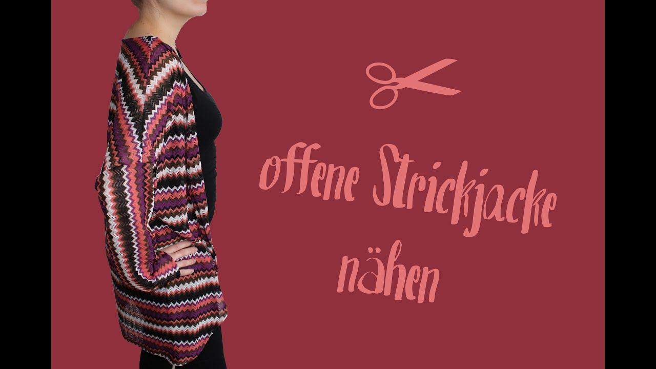 offene Strickjacke | Cardigan nähen - DIY Tutorial | Nähanleitung + ...