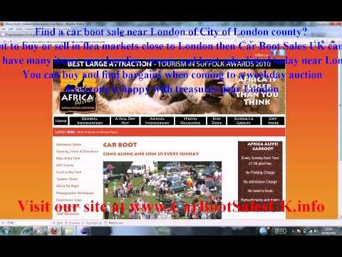 Car Boot Sales London Flea Market Sites City Of London Youtube