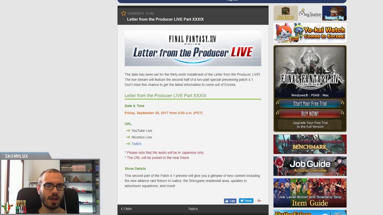 FFXIV: Live Letter 39 Annunciata (Parte 2 sulla Patch 4.1)   YouTube