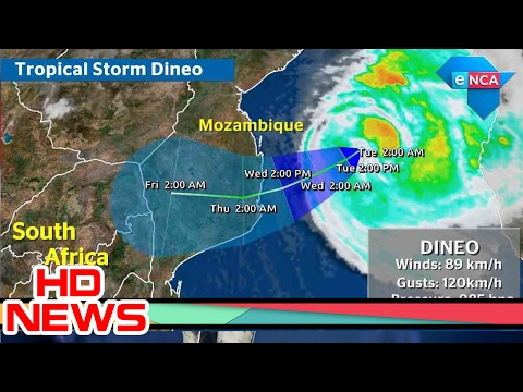 Cyclone Dineo South Africa | Descending Tropical Cyclone Dineo to hit Mozambique first, then SA